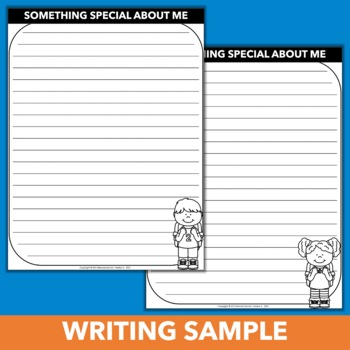 Back to School Writing Activity - About Me Beginning of Year Writing Sample