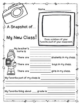 Back to School Writing Activity Packet Freebie!