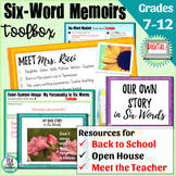 Back to School Writing Activity: Six-Word Memoirs