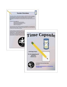 Back to School Activity - Personal Writing - A Time Capsule