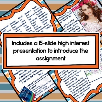 Back to School Writing Activity for Middle and High School - Find Your Focus