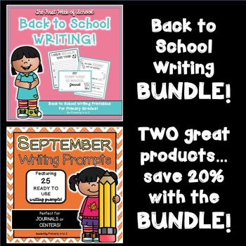 Back to School Writing BUNDLE!