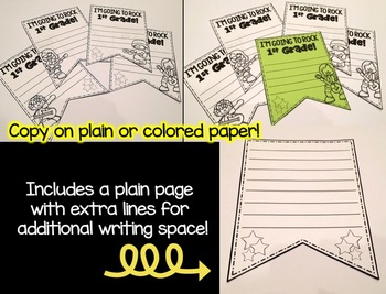 Back to School Writing Banners & Bookmarks: 1st Grade