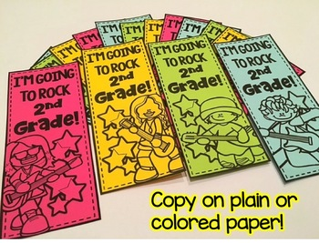 Back to School Writing Banners & Bookmarks: 2nd  Grade