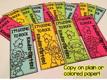 Back to School Writing Banners & Bookmarks: Kindergarten
