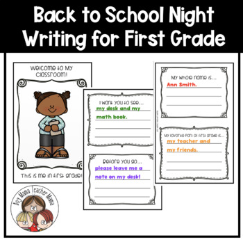 Back to School Writing Book for First Grade