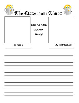 Back to School Writing - Buddy Interview