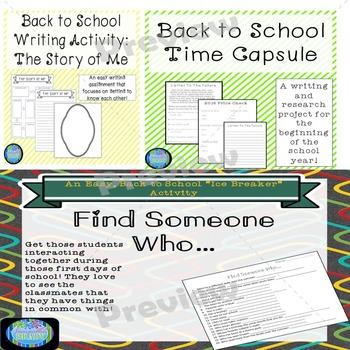 Back to School Writing Bundle