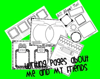 Back to School Writing Center Activities