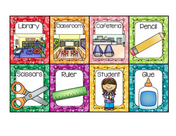 Back to School Writing Center Display Cards