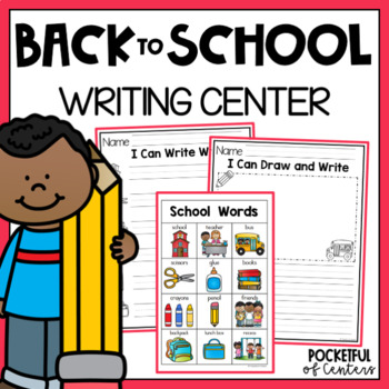 Back to School Writing Center Mini-Packet