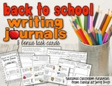 Back to School Writing Journal and Task Cards