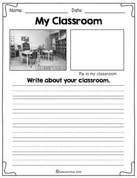 Back to School Writing Center with REAL Pictures