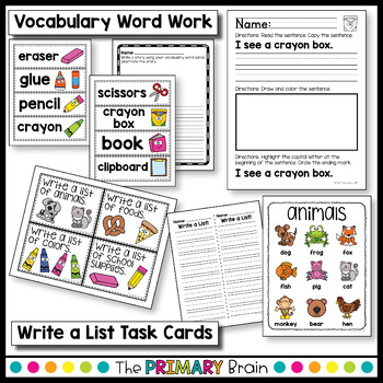 Back to School Writing Activity Pack