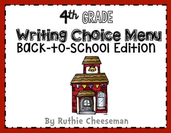 Back-to-School Writing Choice Menu