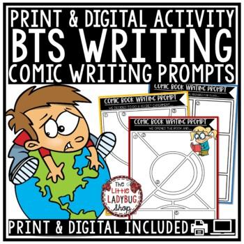 Creative Writing Comics Back to School Writing Prompts - 3rd Grade, 4th Grade