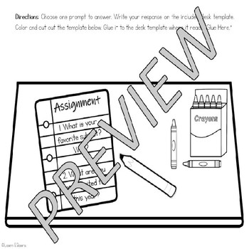 Back to School Writing Craft - Differentiated