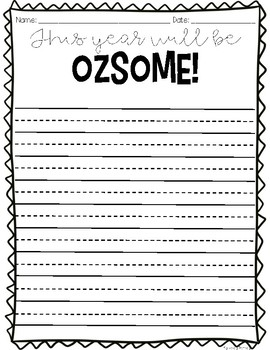 Back to School Writing Craft {Wizard of Oz Themed}
