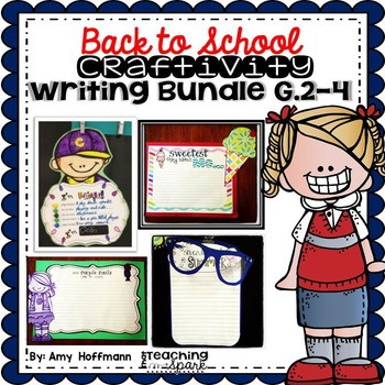 Back to School Writing Craftivity Bundle Grades 2-4