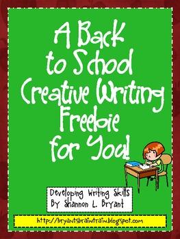 Back to School Writing FREEBIE!