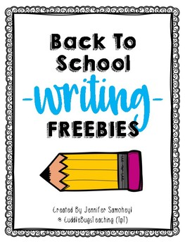 Back to School Writing Freebies