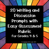 20 Writing Prompts for Grades 4 and 5 - Topics that Kids Will Relate To!