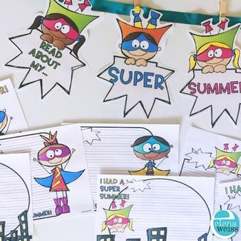 Back to School Writing: I had a Super Summer