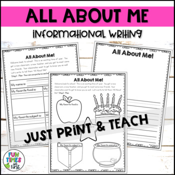 Back to School Writing {Informational, Opinion, and Narrative}