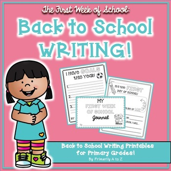 Back to School Writing {Journal, Prompts, Craftivity & MORE!}