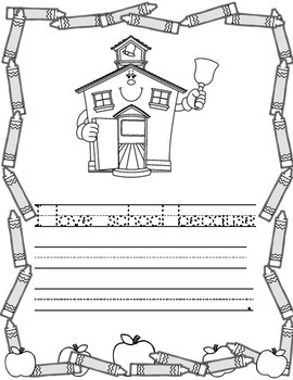Back to School Writing Journal Template