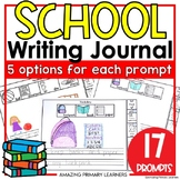 Back to School Writing Journal with Sentence Starters   Wr
