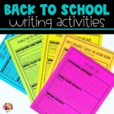 Back to School Writing Lessons & Activities - Distance Learning