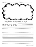 Back to School Writing: My Favorite Summer Memory