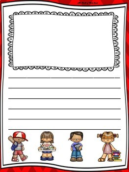 Back to School Writing Paper--Back to School Writing Stationary--DIFFERENTIATED