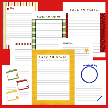 Back to School Writing Paper ~ Creative Writing, Bulletin Boards & Notebooking