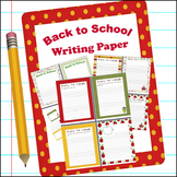 Back to School Writing Paper ~ Creative Writing, Bulletin
