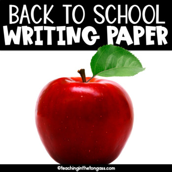 Back to School Writing Paper Free (Lined Writing Paper)