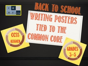 Back to School Writing Posters - Tied to Common Core