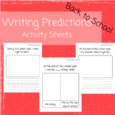 Back to School Writing Predictions Pages-Critical Thinking