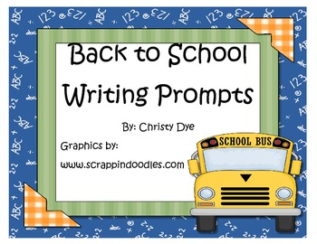 Back to School Writing Prompt Posters