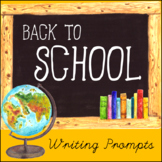 Back-to-School Writing Prompt Warm-Ups