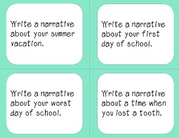 Back to School- Writing Prompts