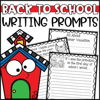 Back to School Writing Prompts & Page Topper Craftivities