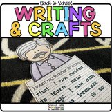 Back to School Writing Prompts & Crafts
