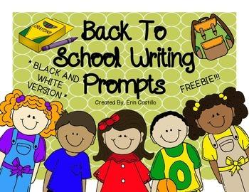 Back to School Writing Prompts Freebie