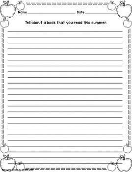 Back-to-School Writing Prompts: Grades 3-6