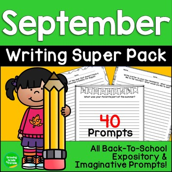 A+ Back-to-School Writing Prompts: Grades 3-6