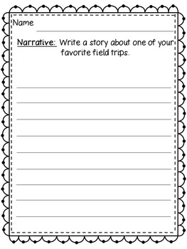 First Week of School - 20 Writing Activities for K-3