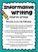 Back to School Writing Prompts: Opinion, Informative, Narr
