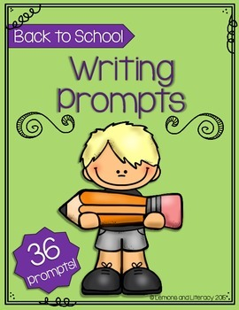 Back to School Writing Prompts Packet
